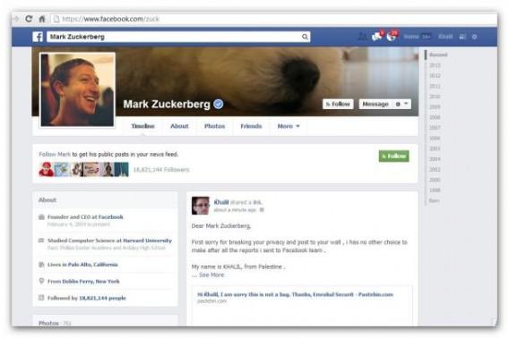 Bug do Facebook permitia escrever na timeline de qualquer pessoa