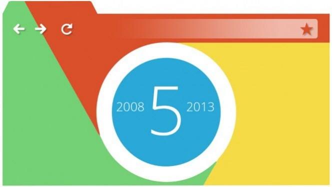 """Chrome completa cinco anos como """"Campeão dos Navegadores"""""""