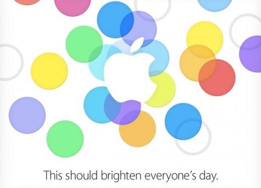 Convite para o keynote da Apple, em 10 de setembro de 2013