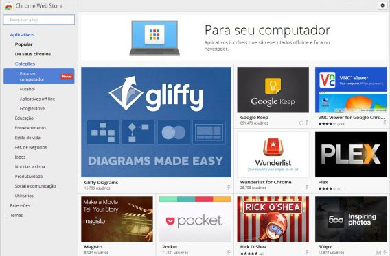 """Chrome """"Para seu computador"""""""