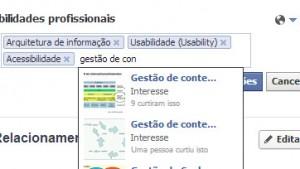 Facebook permite aos usuários descrever suas habilidades profissionais