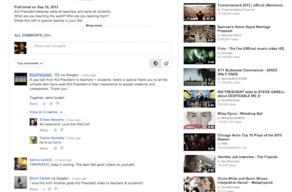 Comentários dos YouTube estarão integrados com Google+