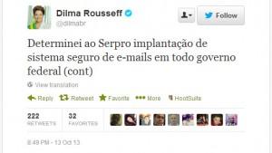 Presidente Dilma determina criação de sistema seguro de e-mails para prevenir espionagem