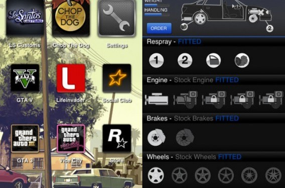 Telas do Grand Theft Auto: iFruit para Android