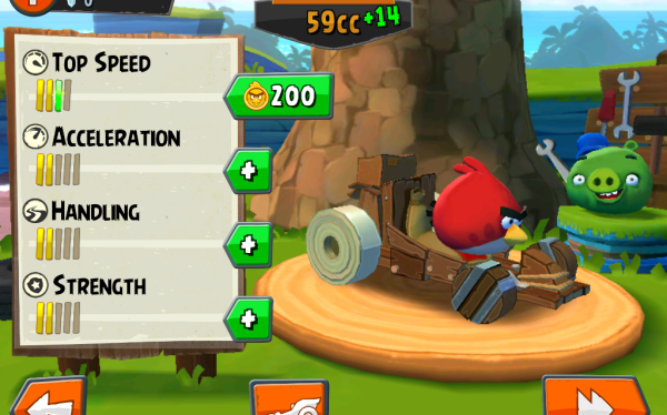 Tela do Angry Birds Go! para iPhone e iPad
