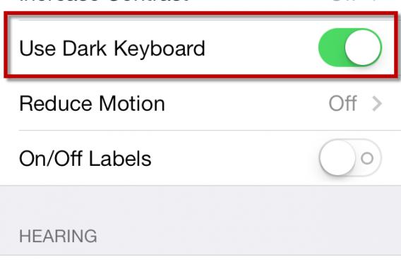 iOS 7.1 permite ao usuário escolher entre dois tons para o teclado