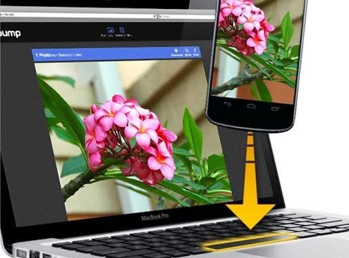 Bump faz transferências de arquivos entre dispositivos com choque entre aparelhos