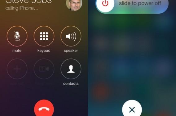 Novos botões redondos do iOS 7.1