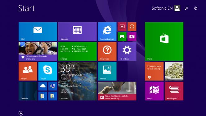 Header Windows 8.1 Update 1
