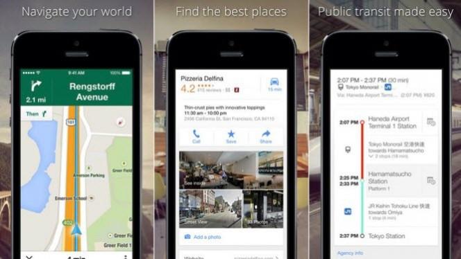 Google Maps para iOS agora mostra melhores rotas em tempo real