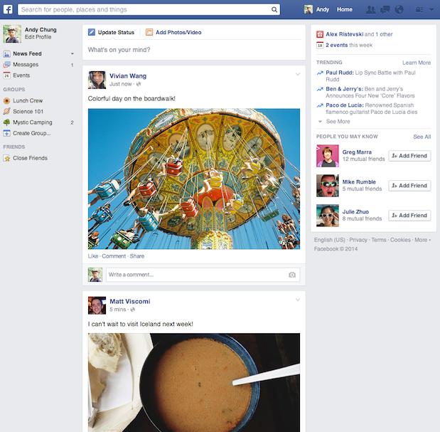Facebook apresenta novo design para timeline