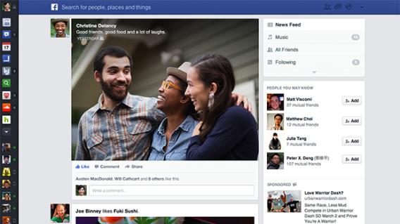 Visual proposto e cancelado pelo Facebook em 2013