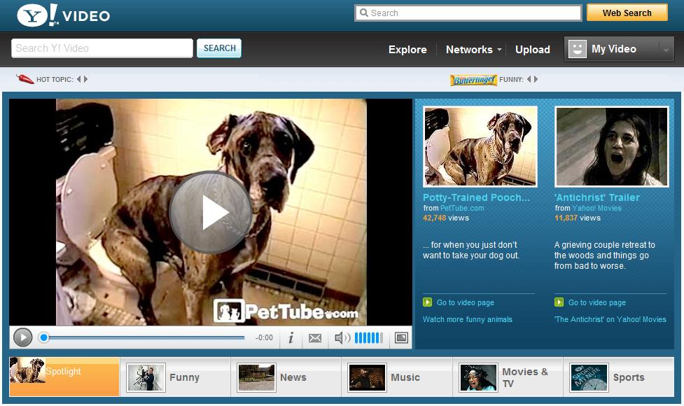Yahoo! Video quer concorrer com YouTube