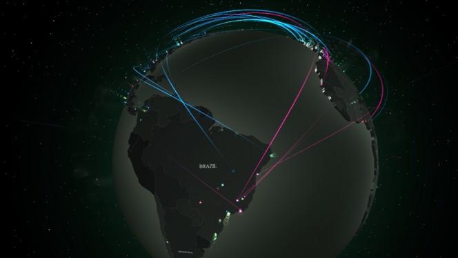 Mapa de ataques virtuais