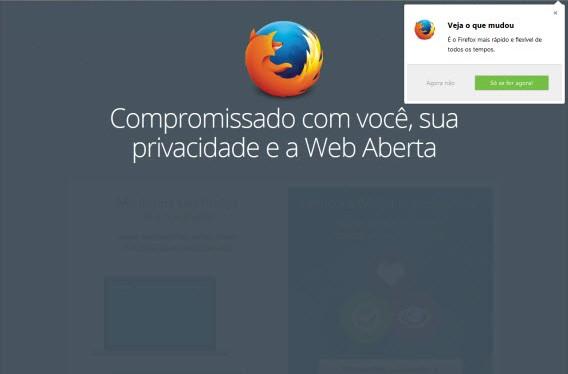 Firefox 29 – Compromisso com você, sua privacidade e a Web Aberta