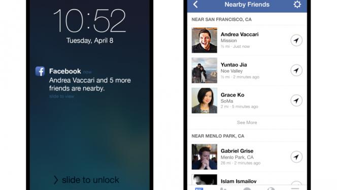 Nearby friends, novo recurso de localização de amigos do Facebook