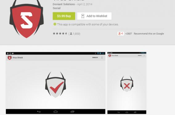 virus shield engana usuários do Google Play