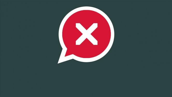 erros que podem ocorrer no WhatsApp