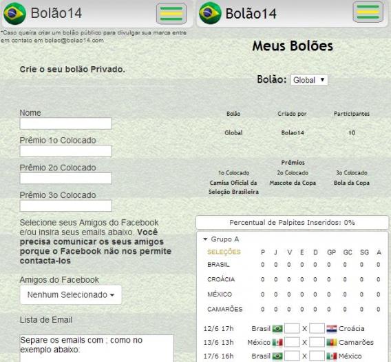 Crie bolões e determine a premiação para os melhores com o Bolão 14