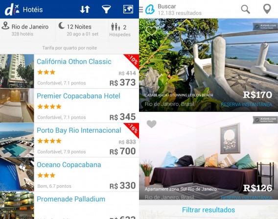 Decolar.com e Airbnb atendem às necessidades básicas para quem busca um quarto ou apartamento no Rio