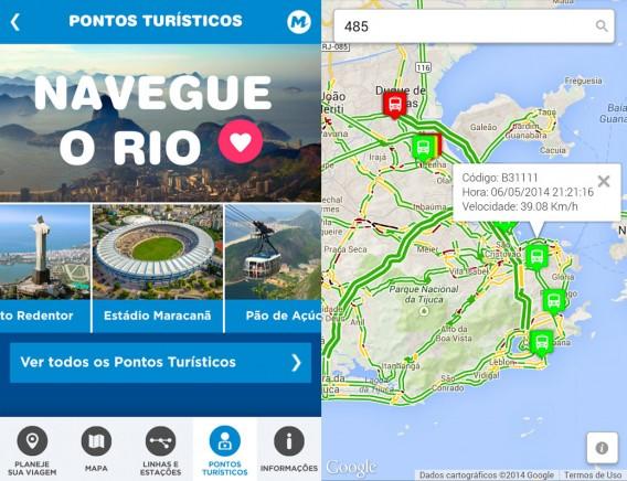 Seja de metrô ou ônibus, quase tudo no Rio pode ser visto com transporte público