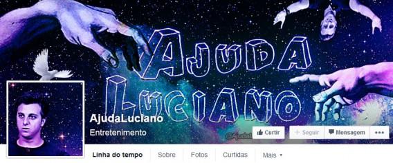 Página Ajuda Luciano no Facebook tem ótimas piadas