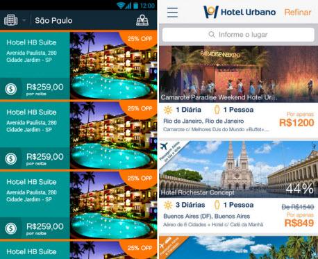 Hotel ASAP e Hotel Urbano ajudam a encontrar quartos disponíveis