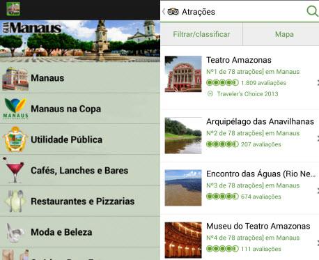 TripAdvisor e Guia Manaus vão ajudar você a encontrar pontos turísticos