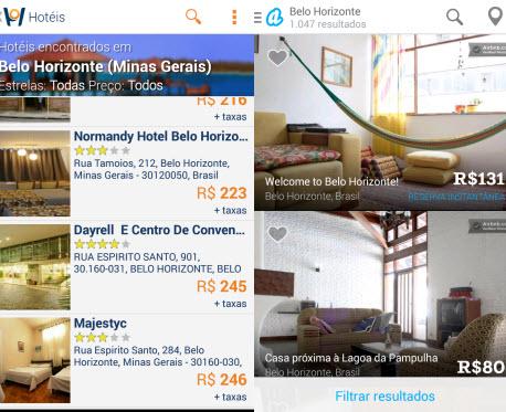 Encontre leitos disponíveis com Airbnb e Hotel Urbano