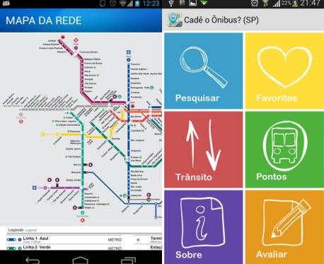 Metrô oficial de São Paulo e Cadê o Ônibus mostram maneiras para escapar do trânsito caótico