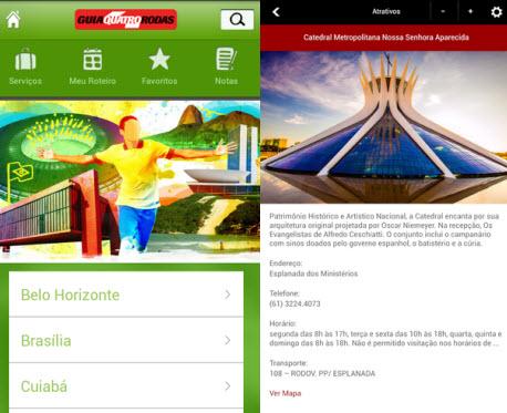 Guia Quatro Rodas e Turismo Brasília indicam os principais pontos turismo da capital brasileira