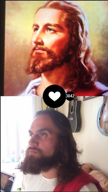 Usuário brinca com imagem de Jesus e cria uma composição no FrontBack