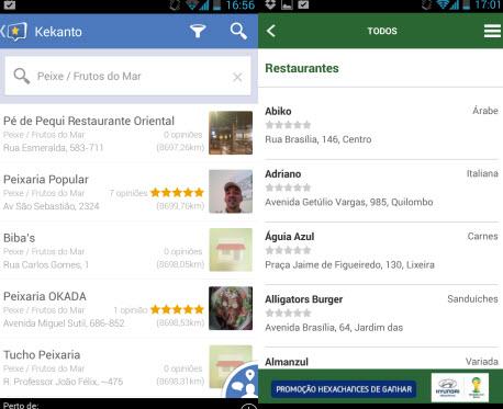 Kekanto e UOL Copa indicam excelentes restaurantes