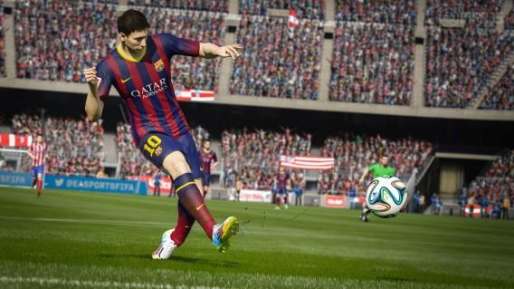 Messi se prepara para fazer seu gol 5.000 no FIFA 15