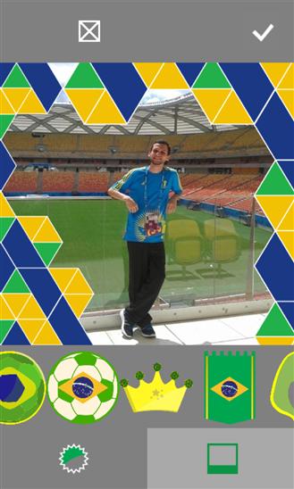 Brazil fan tag