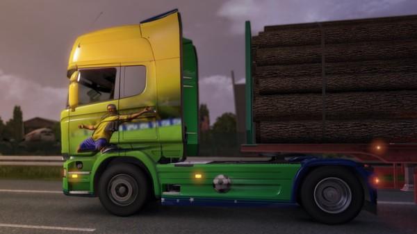 Euro Truck Simulator 2 permite customizar caminhões com as cores do Brasil