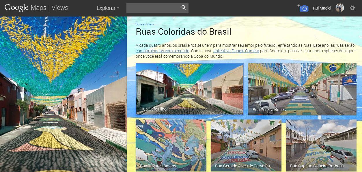 s exibe as ruas brasileiras enfeitadas para o torneio