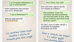 App desenvolvido no Brasil permite criar conversas falsas no WhatsApp