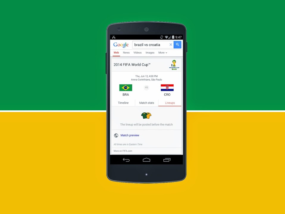 Personalize seu PC e smartphone com temas e widgets da Copa do Mundo - Google Now