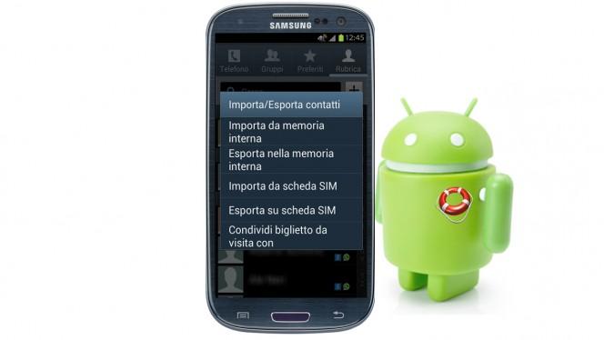 android-copiare-contatti