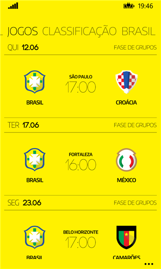 copa2014 Windows Phone