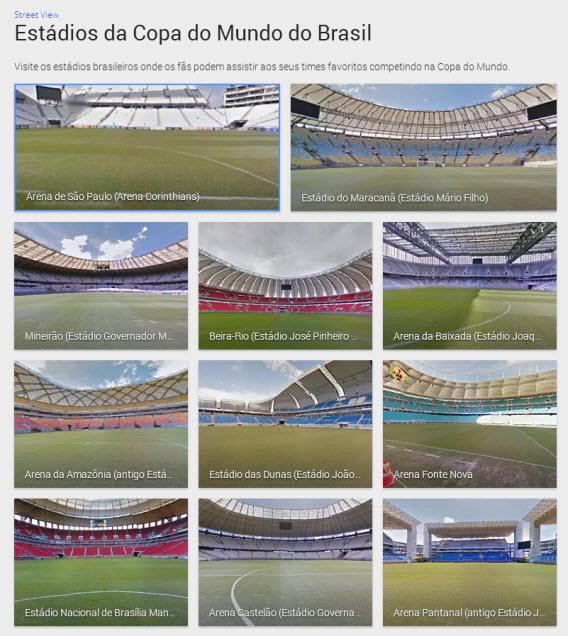 Google permite fazer visita a estádios da Copa no Brasil com Street View