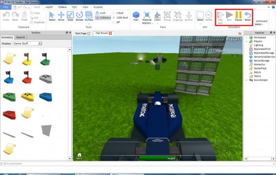 Teste os mapas criados sem sair do Roblox Studio clicando no botão Play Solo