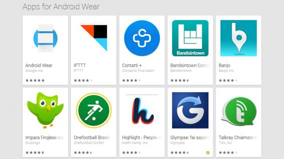 Android-Wear ganha seção no Google Play