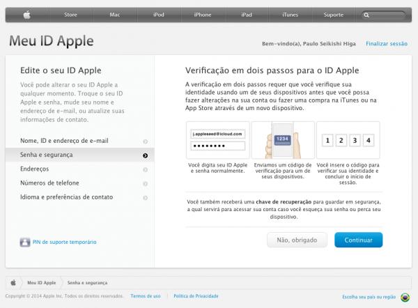 Meu Apple ID - 2 Passos