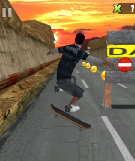Caia na estrada e evite o tráfego com o seu skate.