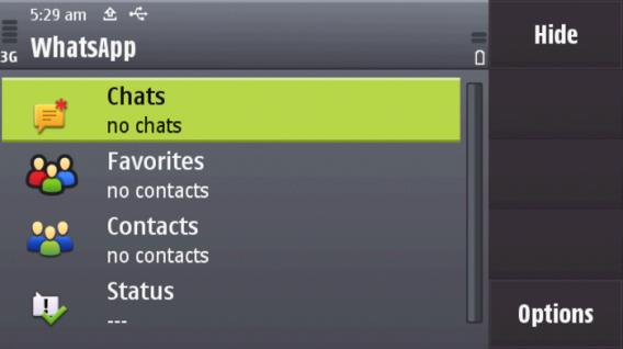 O WhatsApp está disponivel para Nokia S40 e Symbian S60