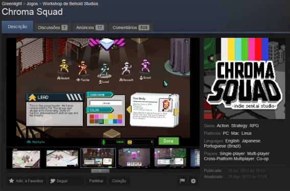 Chroma Squad é um caso de sucesso brasileiro