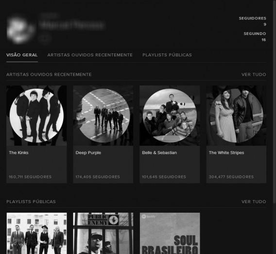 Amigos do Spotify tem acesso as suas atividades
