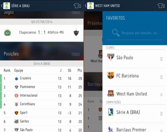 Siga até 3 campeonatos diferentes com o App oficial da FIFA